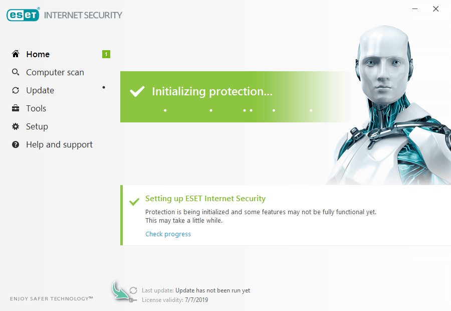 آموزش نصب آنتی ویروس ESET